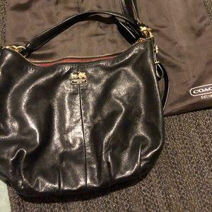 Authentic Black leather Coach purse